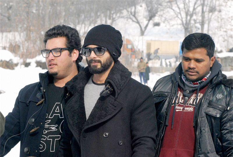 Shahid Kapoor is seen shooting for 'Haider' in Kashmir. The movie, that is directed by Vishal Bhardwaj, had an extensive schedule in Valley. Photo: PTI