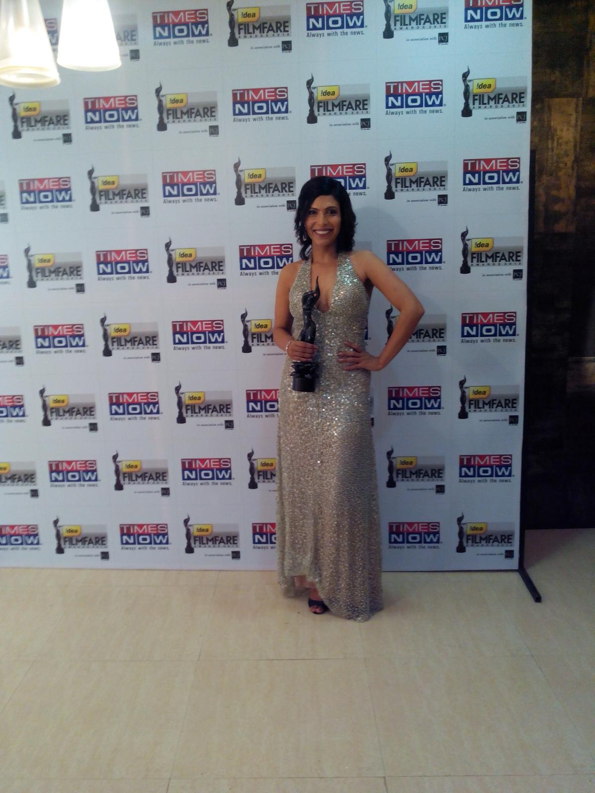Shilpa Shukla wins Best Actress Critics for BA Pass at the 59th Idea Filmfare Awards held in YashRaj Studios Mumbai