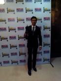 Dhanush wins Best Debut Male at the 59th Idea Filfare Awards held in YashRaj Studios Mumbai