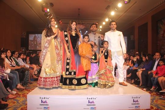 Sangeeta Ghosh, Krystle Dsouza, Karan Tacker and designer Sumit Dasgupta at Day 2 of India Kids Fashion Week