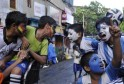 Indian Fans Enjoy FIFA Soccer World Cup
