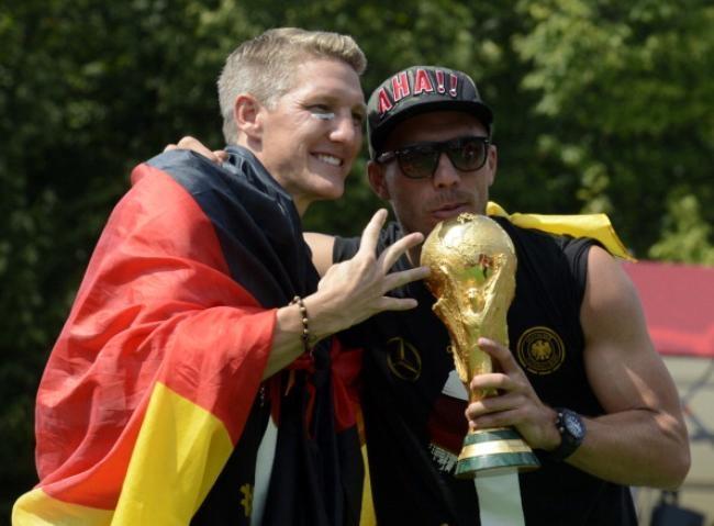 World Cup 2014 Winners Germany Arrive At Berlin Tegel Airport