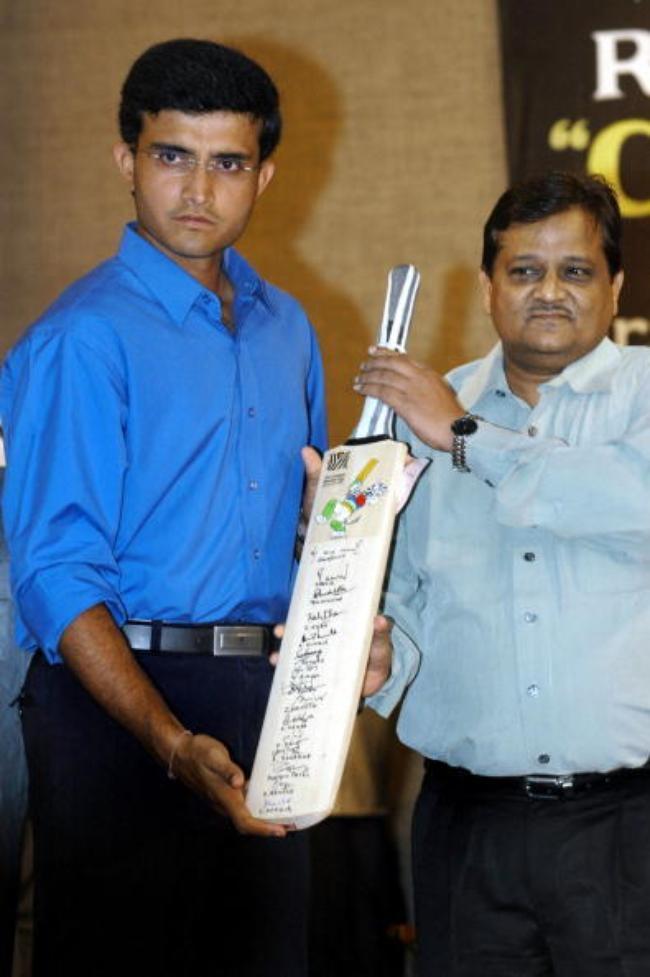 Indian cricket captain Sourav Ganguly ha