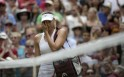 Maria Sharapova of Russia reacts after being defeated by Angelique Kerber of Germany in their women