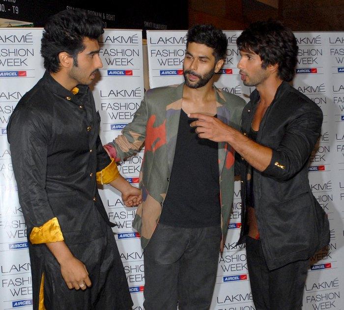 Arjun Kapoor, Shahid Kapoor and Kunal Rawal