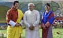 Narendra Modi, Jigme Khesar Namgyel Wangchuck,  Jetsun Pema