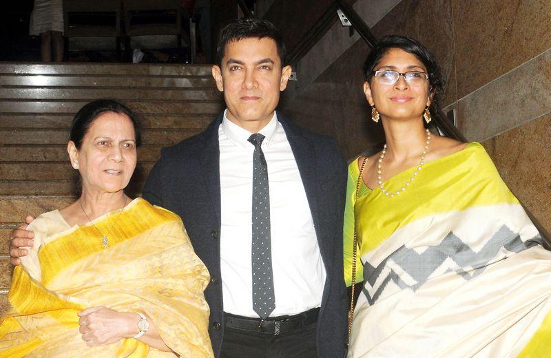 Zeenat Hussain, Aamir Khan and Kiran Rao