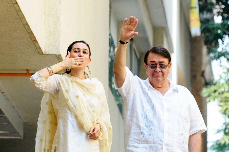 Karisma Kapoor and Randhir Kapoor
