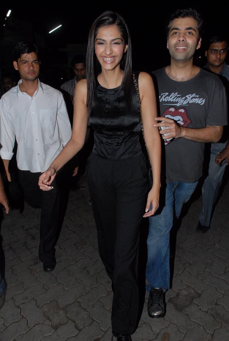 Sonam Kapoor and Karan Johar