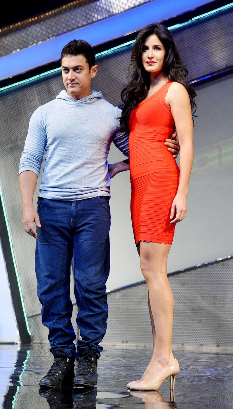Aamir Khan and Katrina KaifCame together for last year's superhit 'Dhoom 3'. Photo: AFP