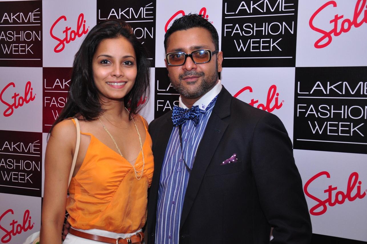 Ash Chandler & Junelia at the Stoli Lounge at Lakme Fashion Week