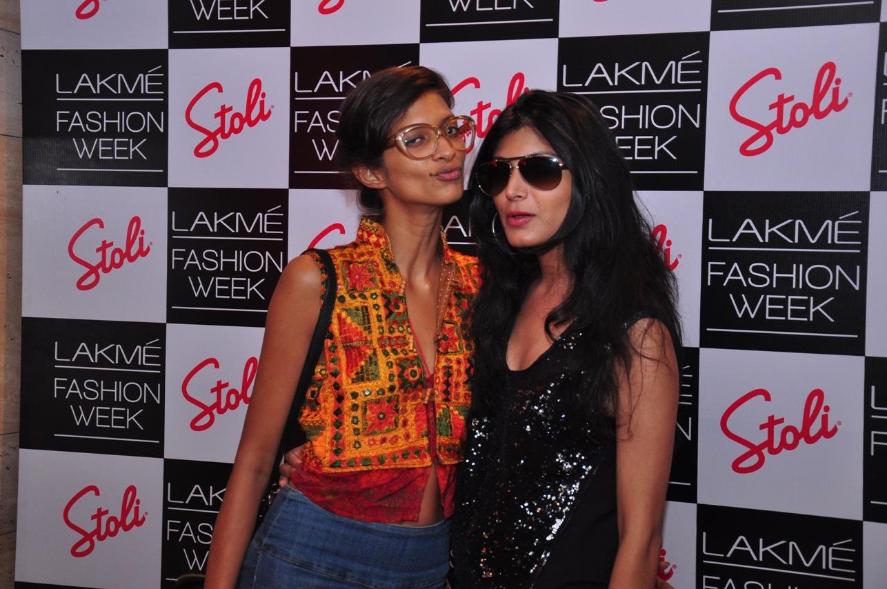 Heema Mandil & Lekha at the Stoli Lounge at Lakme Fashion Week