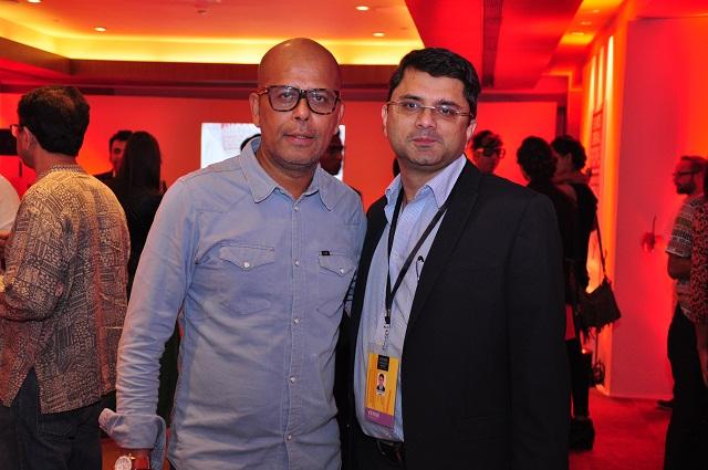 Narendra Kumar & Jackie Matai at the Stoli Lounge at Lakme Fashion Week