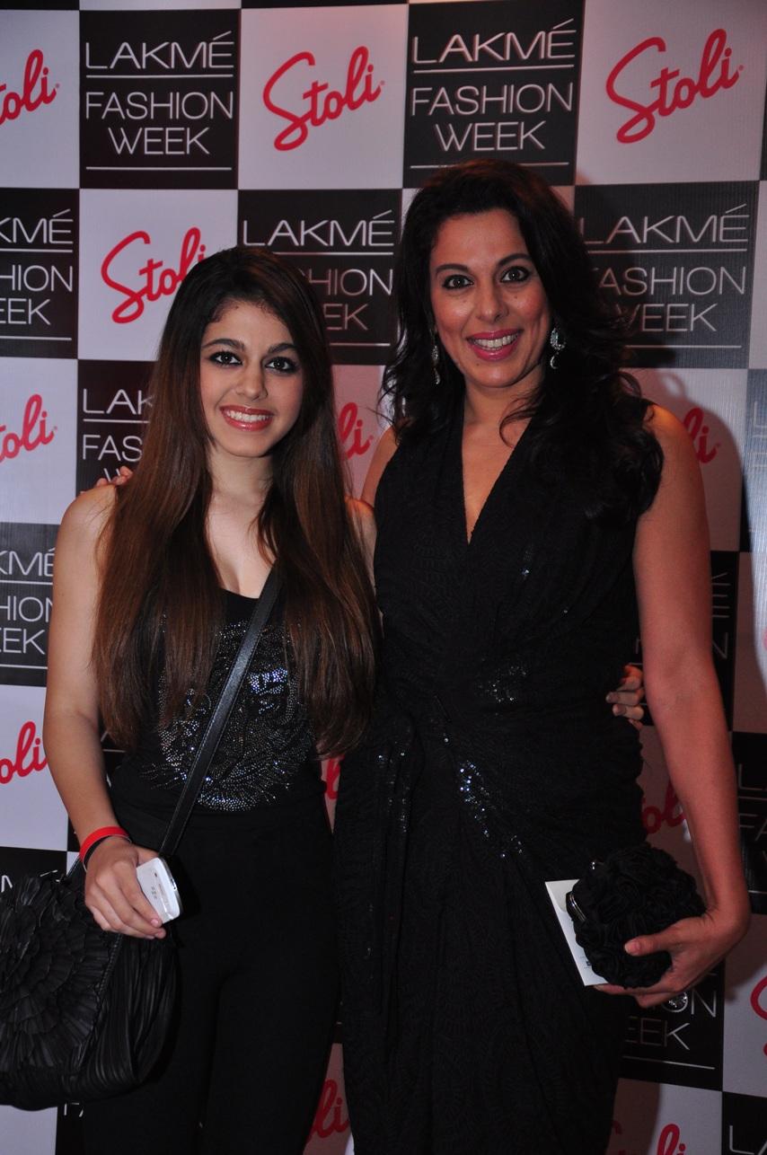 Pooja Bedi & Alia at the Stoli Lounge at Lakme Fashion Week