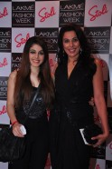 Pooja Bedi & Alia at the Stoli Lounge at Lakme Fashion Week