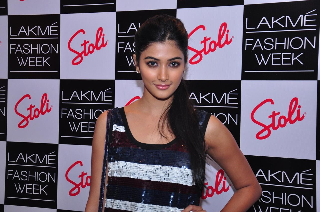 Pooja Hegde at the Stoli Lounge at Lakme Fashion Week