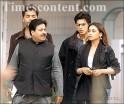 Rajiv Shukla, Shah Rukh Khan, Rani Mukerji and Karan Johar