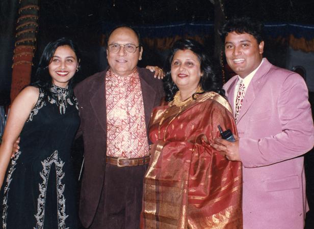 Rani Mukerji with her family
