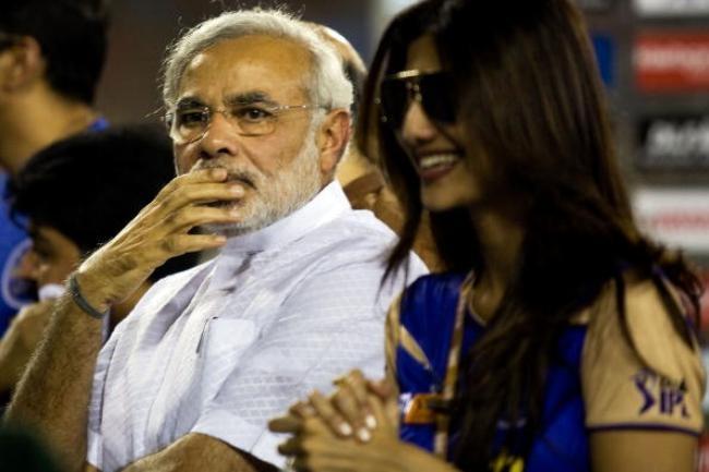 Modi With Shilpa Shetty