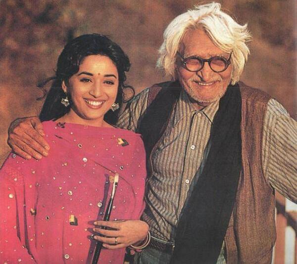 Madhuri Dixit-Nene and MF Husain