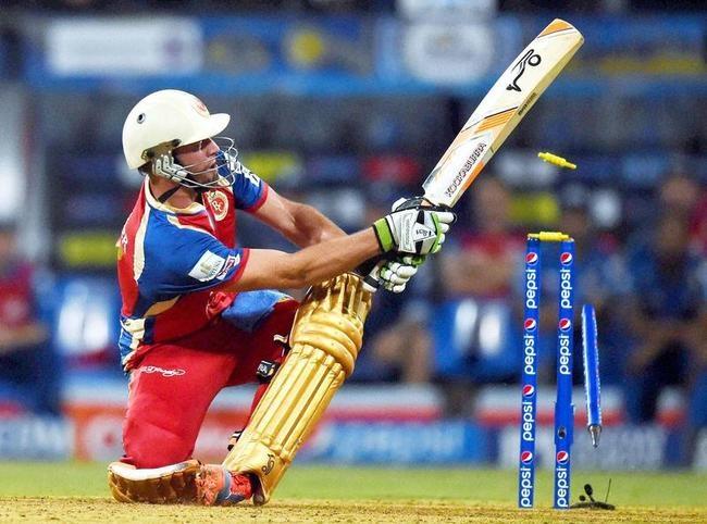 AB de Villiers Bowled