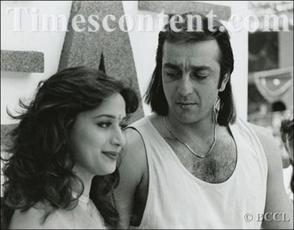 Sanjay Dutt and Madhuri Dixit