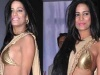Poonam Pandey flashes side cleavage in slinky sari