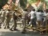 Youth Cong Workers Protest Outside BJP HQ