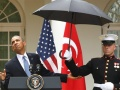 Marines Shield Obama From Rain