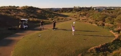 8-Year-Old Golfer Hits A Drone Flying Overhead With A Perfectly Aimed Drive