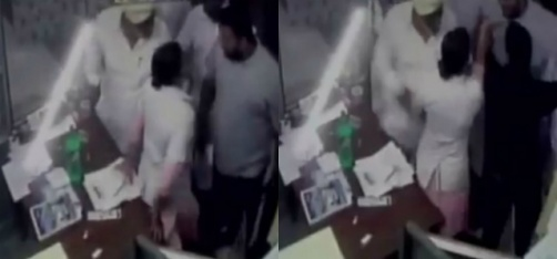 Watch: Husband And Son Of Akali Dal Sarpanch Thrash Pregnant Nurse At A Private Hospital In Punjab