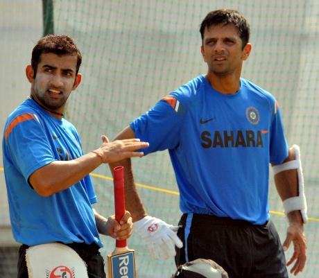Gautam Gambhir and Rahul Dravid