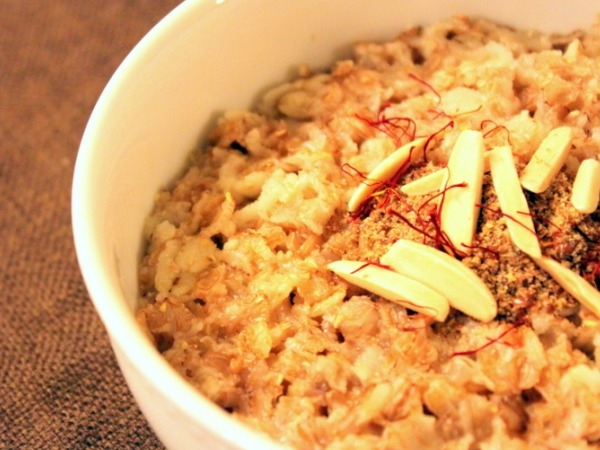 Indian Spiced Oatmeal or Healthy Version of Kheer