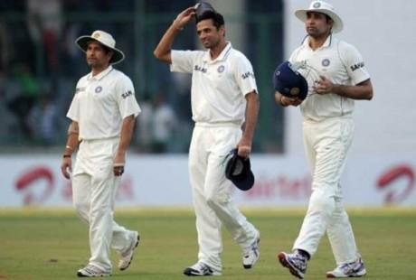 Sachin Tendulkar, Rahul Dravid and VVS Laxman