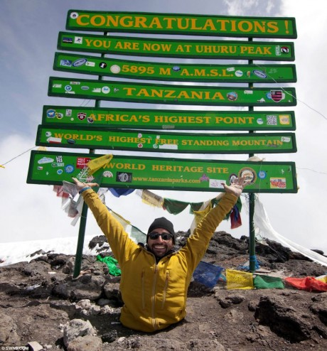 Man with no legs scales 19,000 ft Mt Kilimanjaro