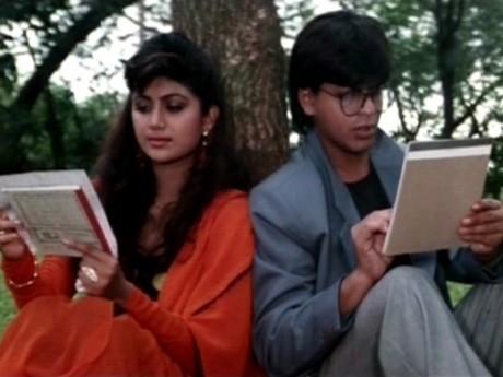 Shilpa Shetty and SRK in Baazigar