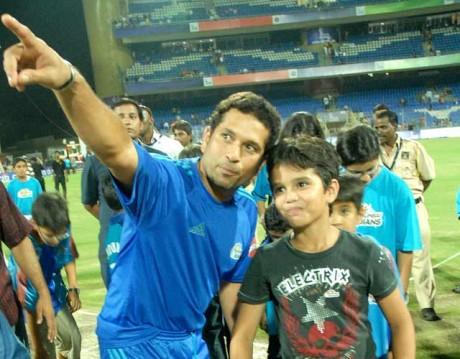 My son is in love with cricket: Sachin Tendulkar