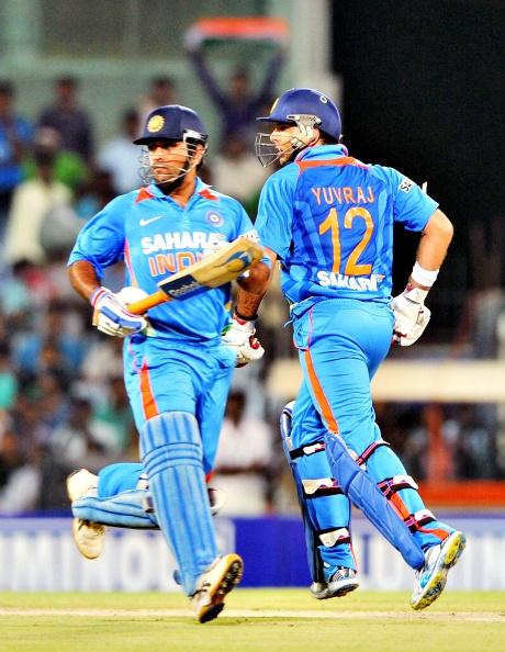 Mahendra Singh Dhoni and Yuvraj Singh