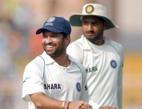 Harbhajan Singh bats for Sachin Tendulkar