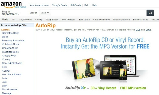 Amazon Offers Digital Songs to Vinyl Record Buyers