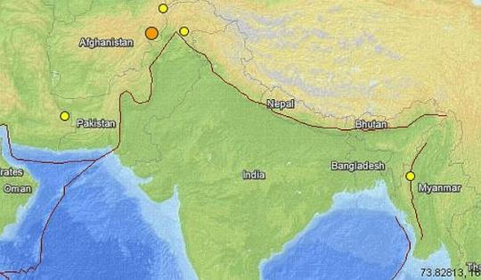 Earthquake tremor in Delhi, Kashmir