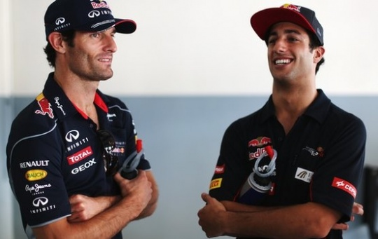 Red Bull to Replace Webber With Ricciardo