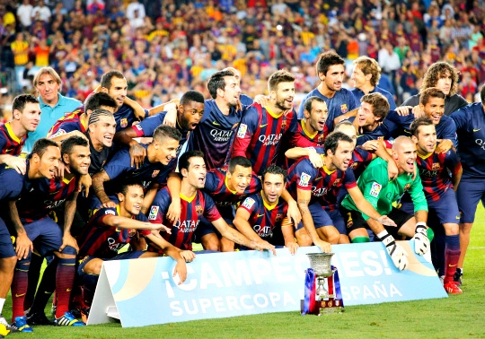Barcelona Beat Atletico to Win Super Cup