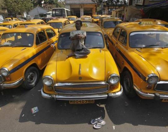 Kolkata's Iconic Yellow Taxis