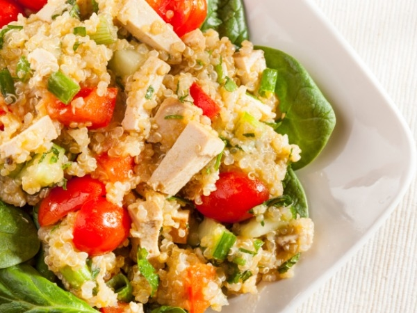 Vegetarian Salad: Quinoa-Cottage Cheese Salad Recipe