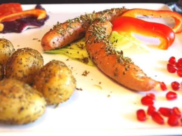 Recipe: German Style Pork Krakauer With Rosemary And Thyme Potatoes