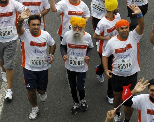 Fauja Singh, 101, Finishes His Last Race in Hong Kong