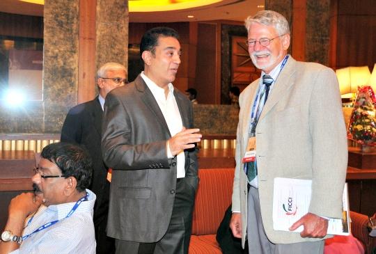 Kamal Haasan and Barrie Osborne