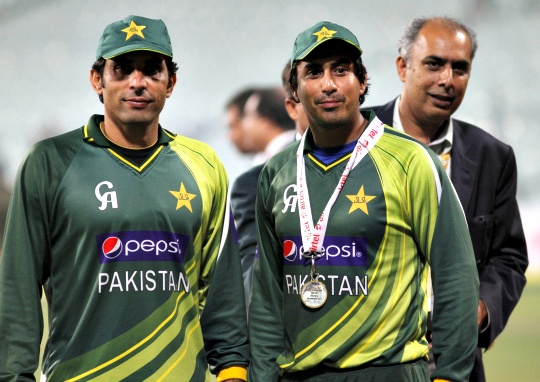 Pakistan Captain Misbah-ul-Haq and N Jamshed