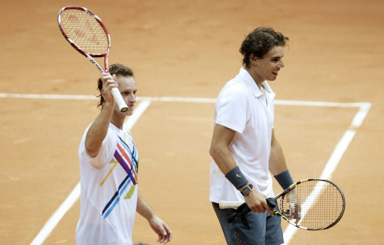 Rafael Nadal and David Nalbandian